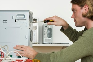 Man Working on Personal Computer